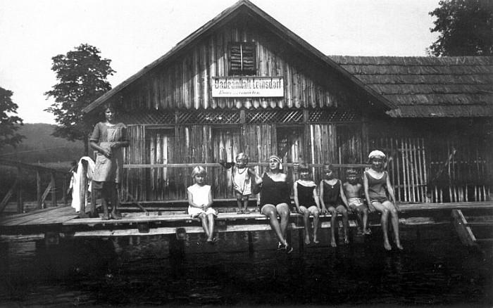 Die Anfänge - Badeanstalt Leinsdorf 1905