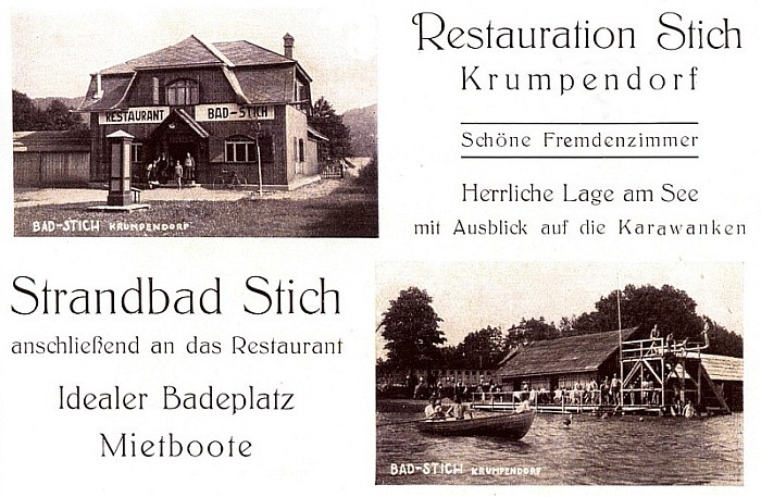 Das neu erbaute Bad Stich mit Restauration 1926