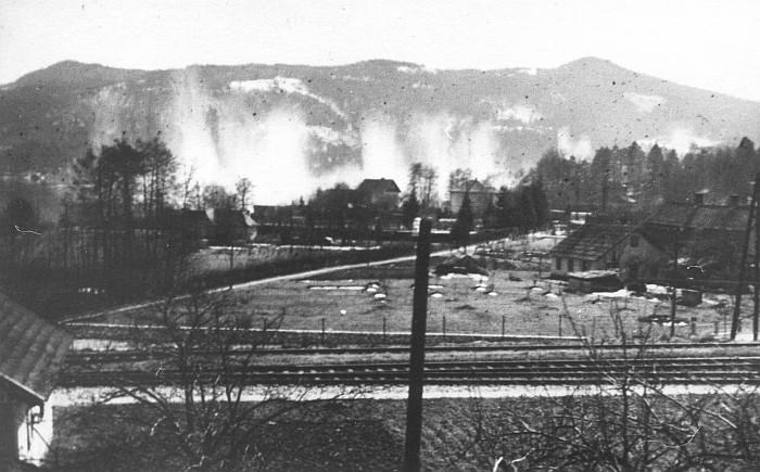 Bombennotabwurf durch alliierte Bomber in den Wörthersee 1944