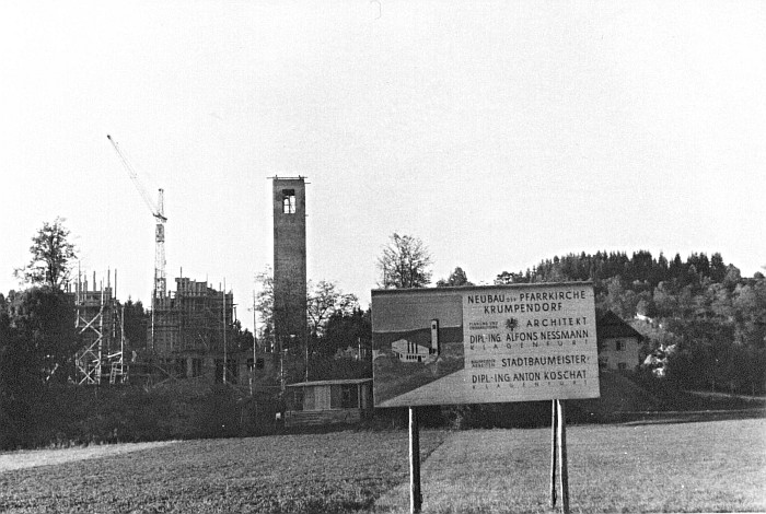 Neubau Christkönigkirche 1960