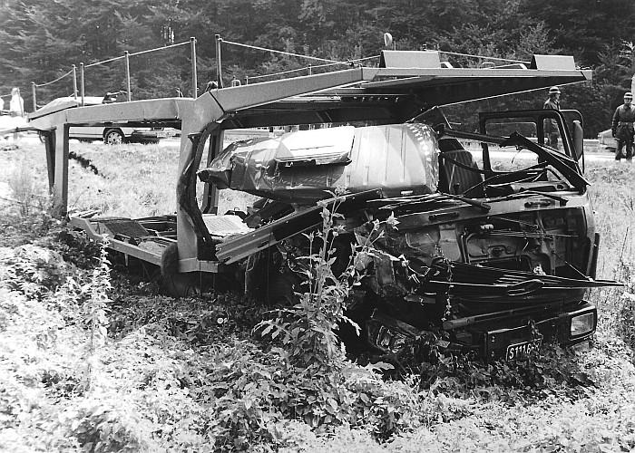 Unfall Autobahn 1982