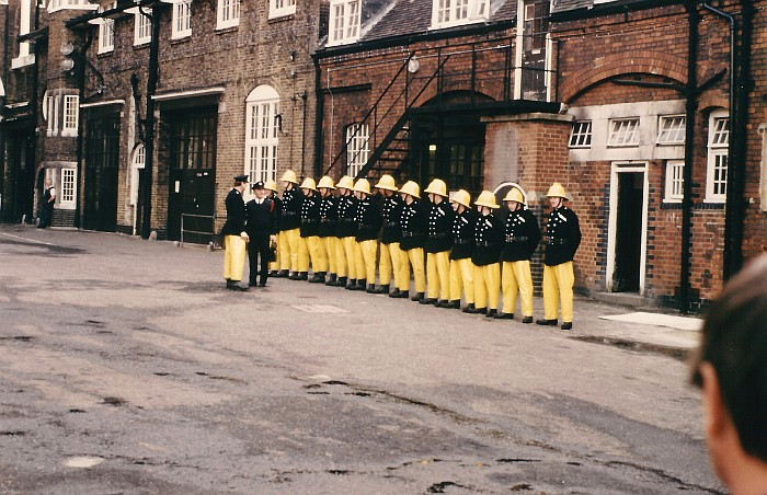 Besuch der London Fire Brigade (LFB) 1984