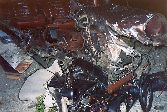 Reste eines Porsche 1986