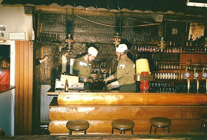 Brand in Tanzlokal Tenne 1989
