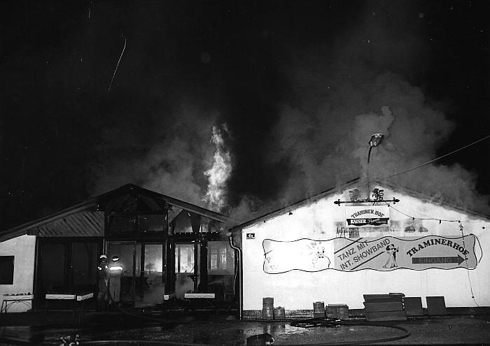 Großbrand im Tanzlokal Traminerhof 1990