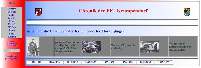 Erste Website der FFK 1997