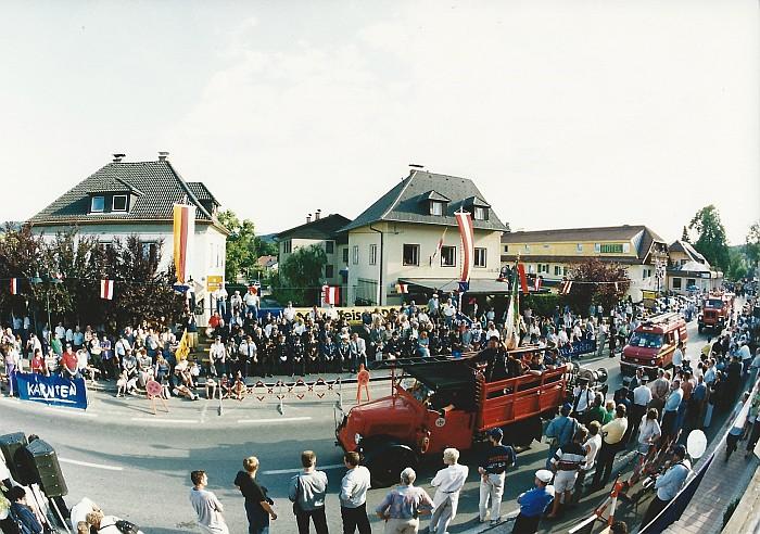 Sternfahrt Krumpendorf 1999, Festumzug entlang der Hauptstraße