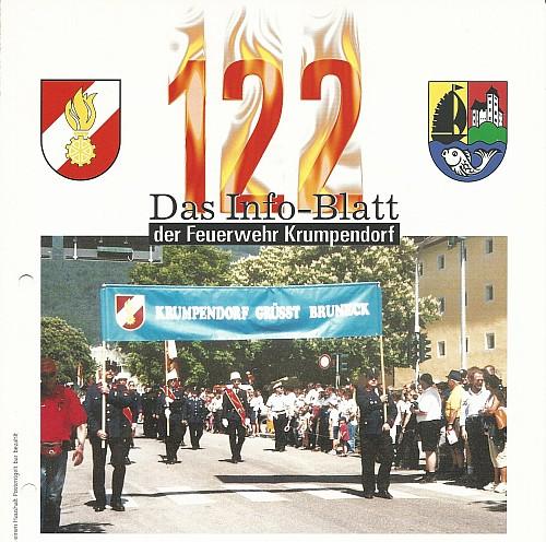 Erste Ausgabe des Infoblatts 122 2001.
