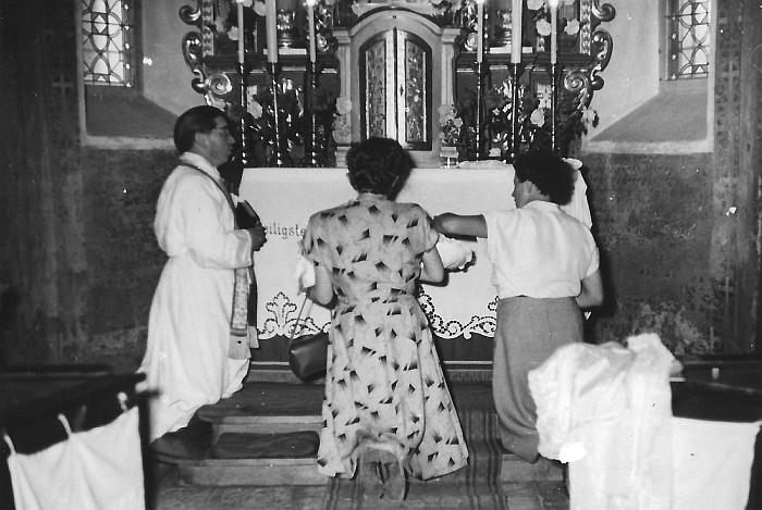 Taufe in der Georgskirche 1954
