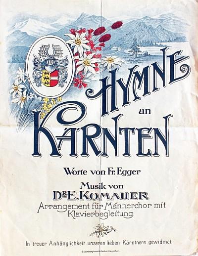 Notenausgabe der Hymne an Kärnten