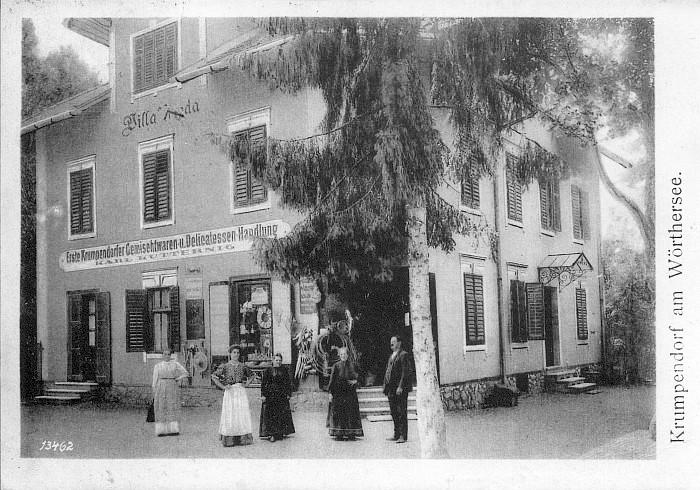 Erste Krumpendorfer Gemischtwaren- u. Delicatessen-Handlung um 1900
