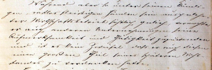 Handschrift aus Schulchronik