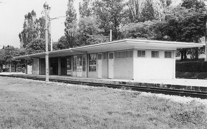 Obus Haltestelle Halle See 1949