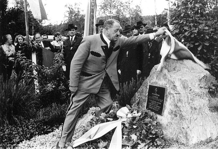 Peter-Pirkhham Gedenktafelenthüllung 1960