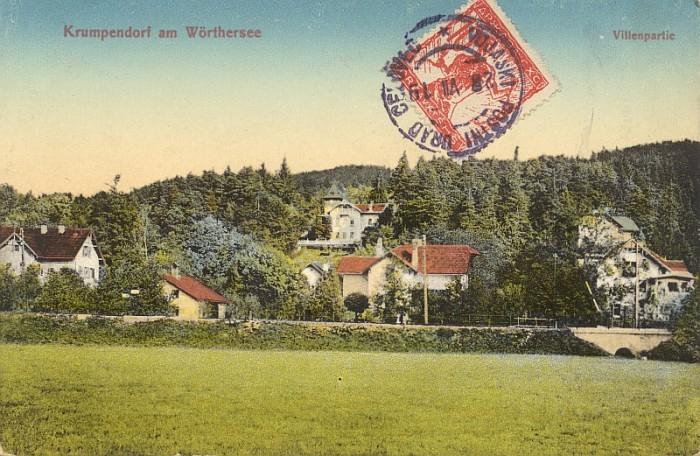 Peter-Pirkham Villenpartie mit SHS-Briefmarke 1919