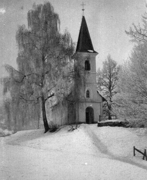 Georgskirche im Winter 1938 (Foto: Schindler-Kunewald)