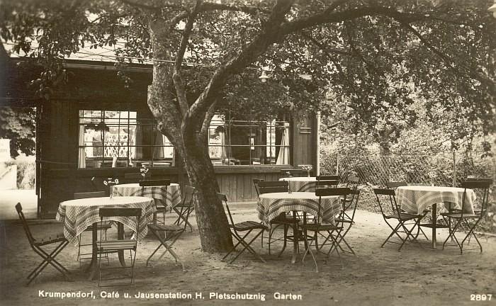 Café Dvorsky, Betreiber Pleschutznig, ca. 1928
