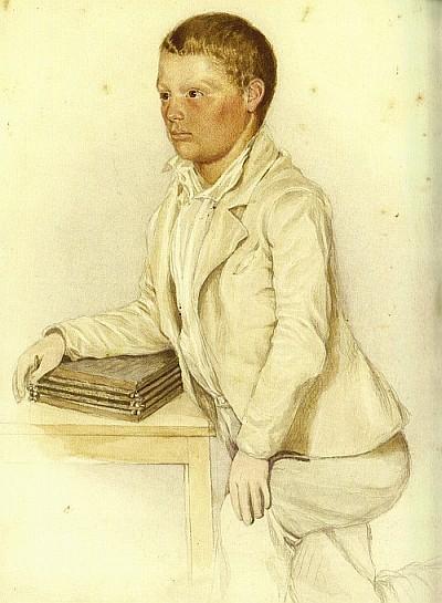 Scherrl 1853 als elfjähriger Schüler