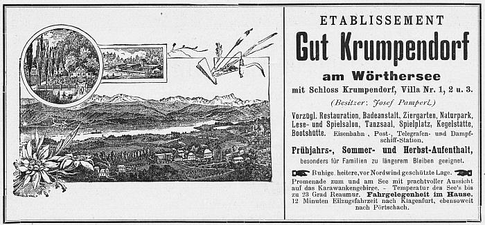 Anzeige Gut Krumpendorf 1898