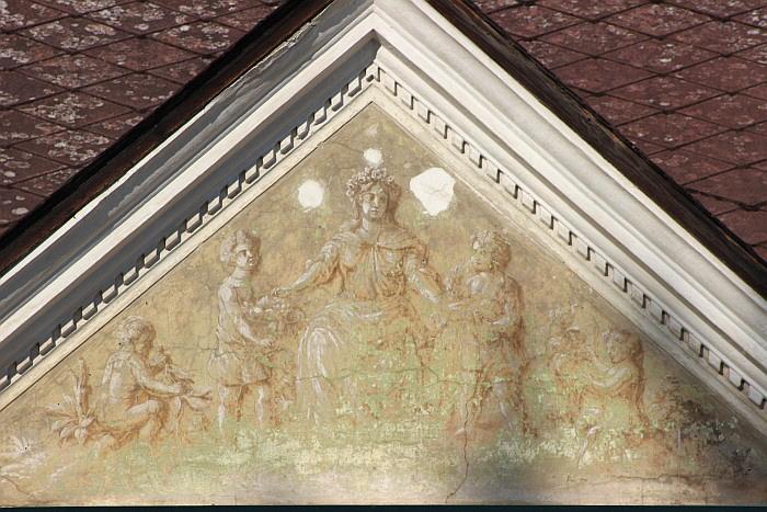 Fresco der römischen Fruchtbarkeitsgöttin Pomona