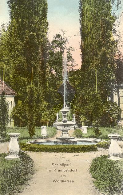 Schlosspark Gut Krumpendorf 1908