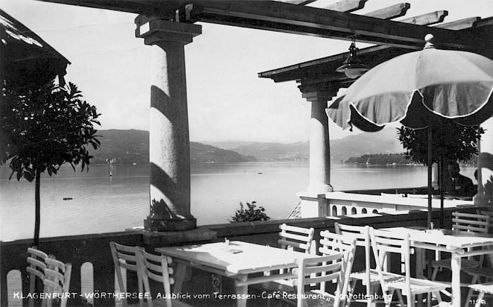 Café Schrottenburg Terrassenausblick Südwest 1928