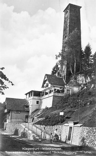 Terrassencafé Schrottenburg 1928