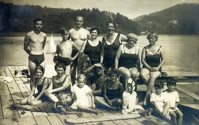Strandbad Krumpendorf Badegruppe 1926