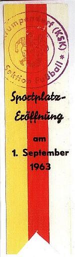 Schleife Sportplatzeröffnung 1967