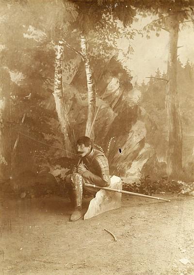 Anton Adametz als Ritter Kurt 1898
