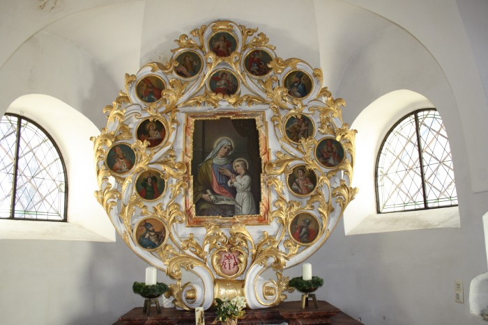 Nothelferaltar in der Ulrichskirche in Pirk
