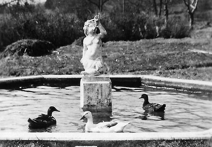 Springbrunnen der Villa Oblasser