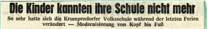 Schulmodernisierung 1963, Zeitungsartikel
