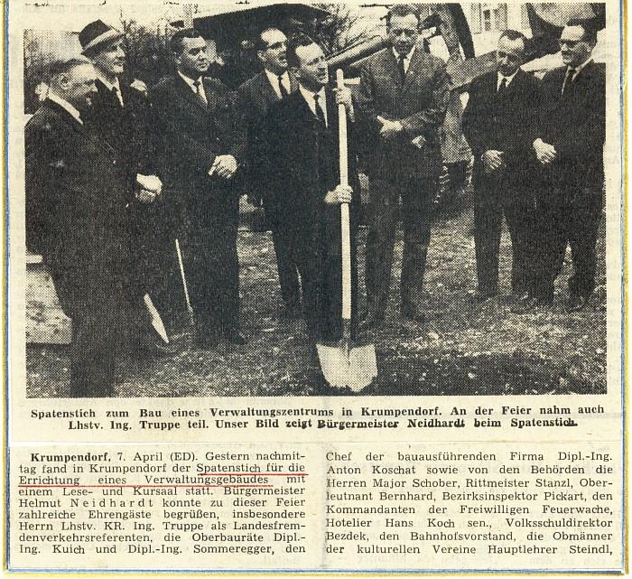 Spatenstich Kurhausbau 1964