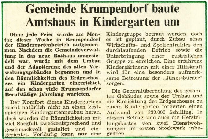 Kindergartenbau 1966