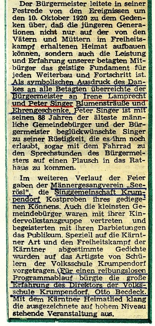 Altenehrung Krumpendorf 1967