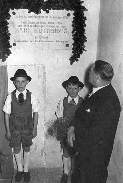 Eröffnung der neuen Volksschule Krumpendorf 1952