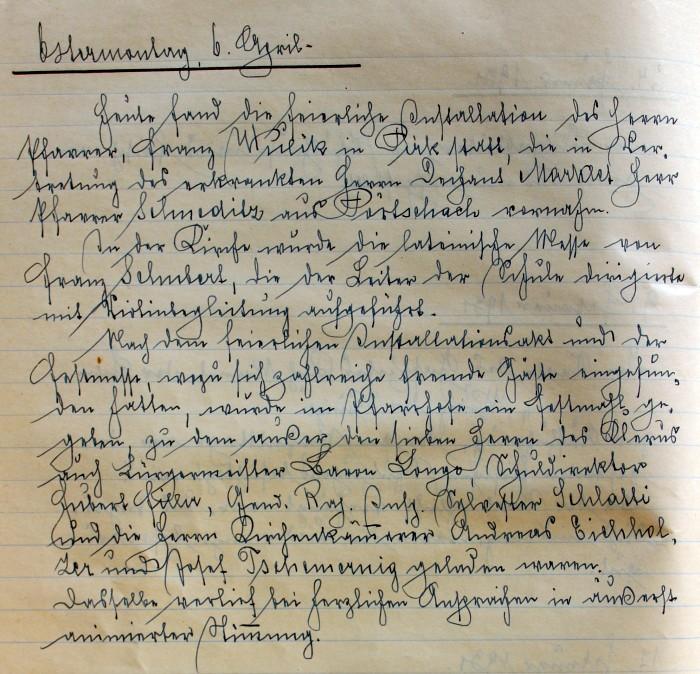Handschrift Schulchronik 1931