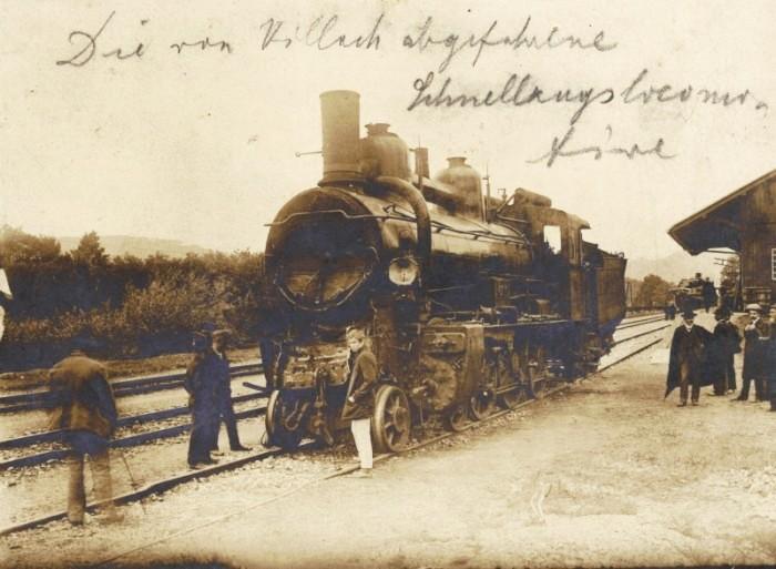Die von Villach abgefahrene Schnellzugslokomotive